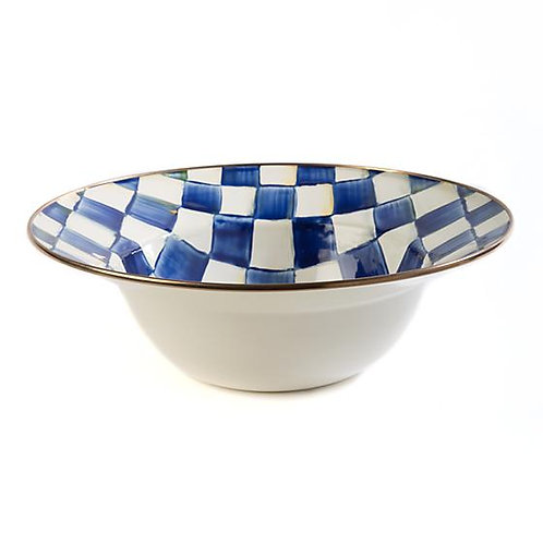 MacKenzie-Childs Royal Check Serving Bowl