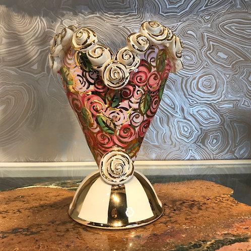 Heart Encrusted Vase