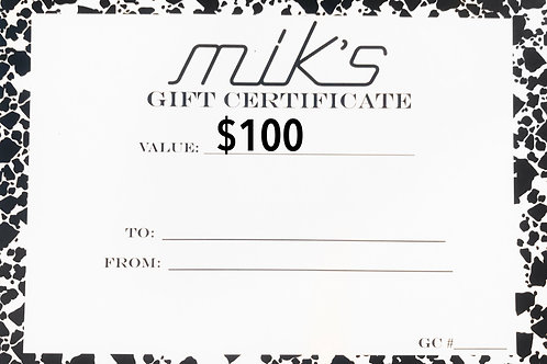 Mik's Gift Card