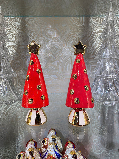 MRY Christmas tree in Red, Cream, and Gold