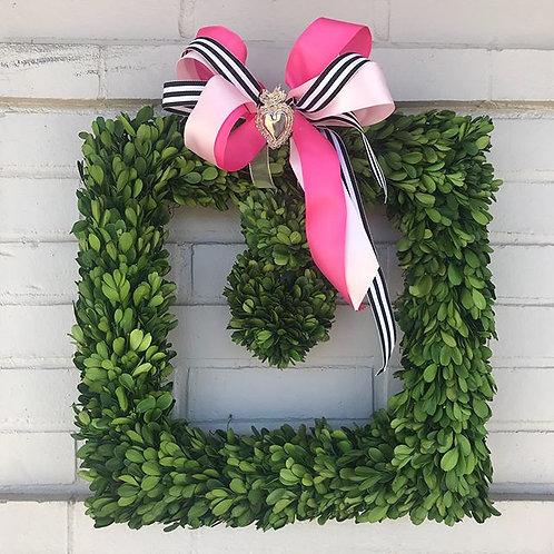 Valentine's Day Boxwood Wreaths