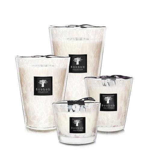 Baobab White Pearls Candle