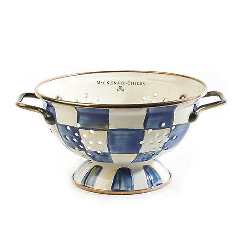 MacKenzie-Childs Royal Check Colander - Small