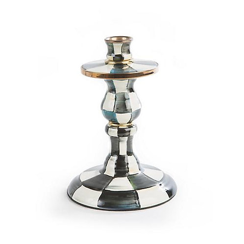 Mackenzie Childs Courtly Check Small Candlestick