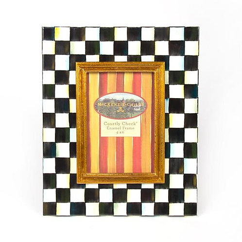 "MacKenzie-Childs Courtly Check Enamel Frame - 4"" x 6"""