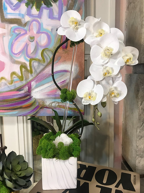 Custom Orchid with Quartz Crystal