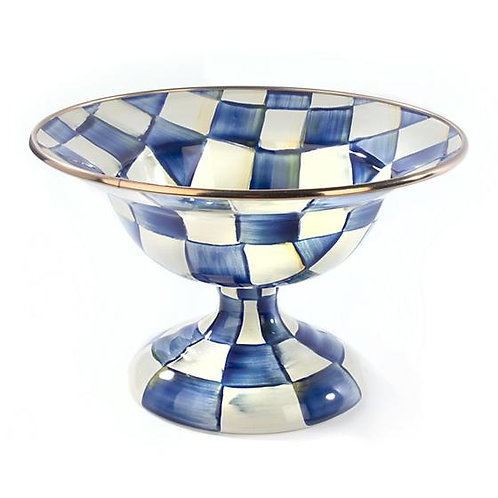 MacKenzie-Childs Royal Check Compote - Small
