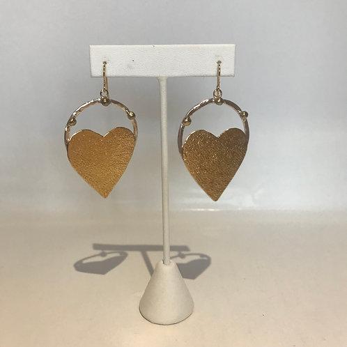 B. Larson Designs Heart Drop Earrings