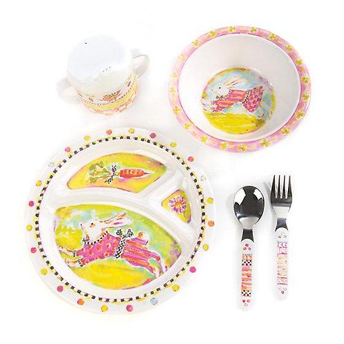 Mackenzie Childs Toddler's Dinnerware Set - Bunny