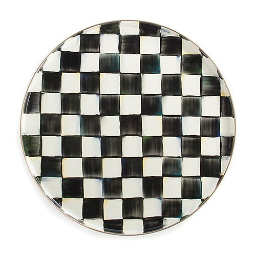 Courtly Check Round Tray