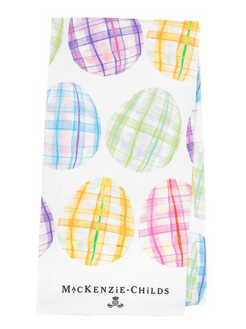 MacKenzie-Childs Tartan Eggs Printed Dish Towel