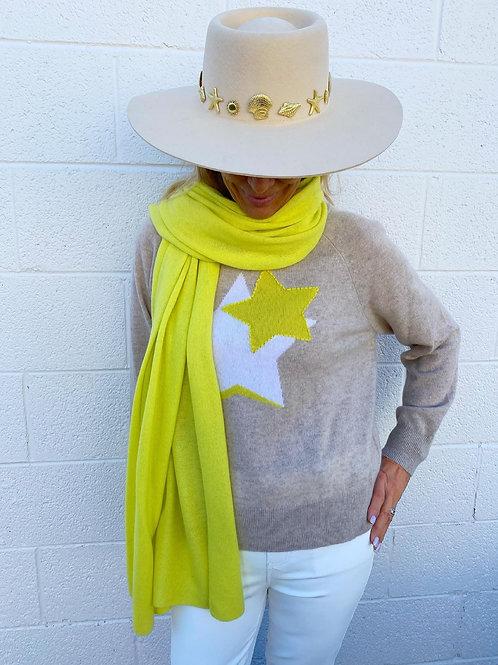 White + Warren Star Sweater