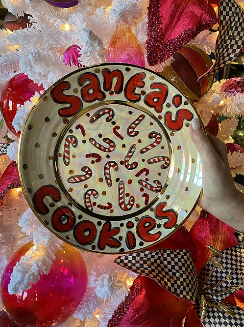 Mary Rose Young Santa's Cookies Dinner Plate