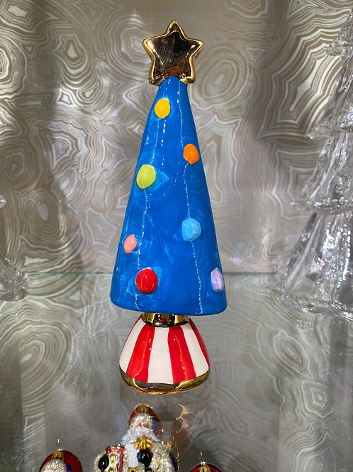 MRY Christmas Tree in Blue, Red, and Rainbow
