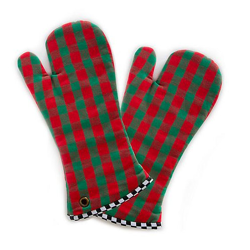 MacKenzie-Childs Merry Christmas Oven Mitts - Set of Two