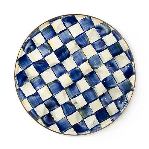 MacKenzie-Childs Royal Check Egg Plate