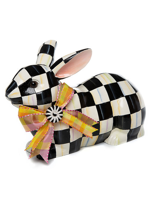MacKenzie-Childs Courtly Check Resting Bunny