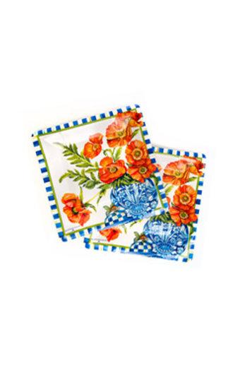 MacKenzie-Childs Ming Poppies Paper Plates - Salad/Dessert