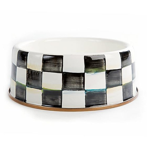 Courtly Check Pet Dish - Large