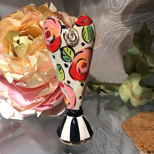 Mary Rose Small Heart Vase