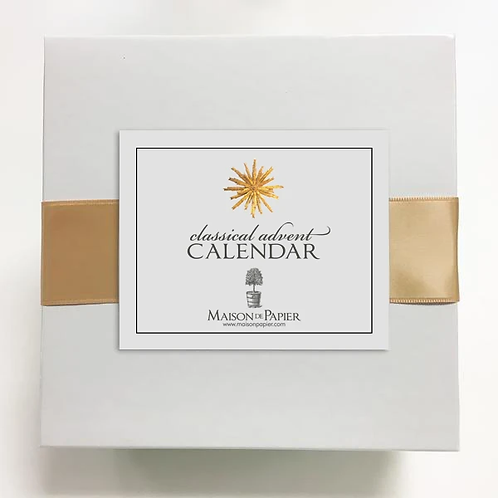 Maison de Papier Classical Advent Calendar with Easel