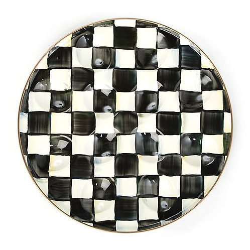 MacKenzie-Childs Courtly Check Egg Plate