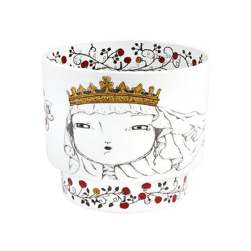 Vista Alegre Rainha Portugal Cachepot Queen Santa Isabel