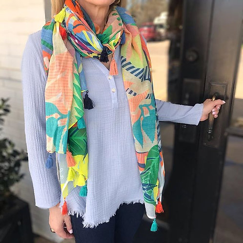 Spring Scarf with Tassels