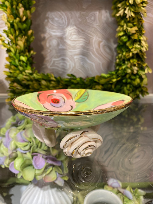 Mary Rose Young Rose Footed Dish