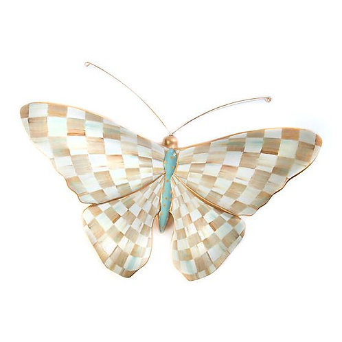 MacKenzie-Childs Parchment Check Butterfly
