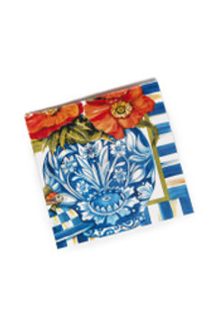 MacKenzie-Childs Ming Poppies Paper Napkins