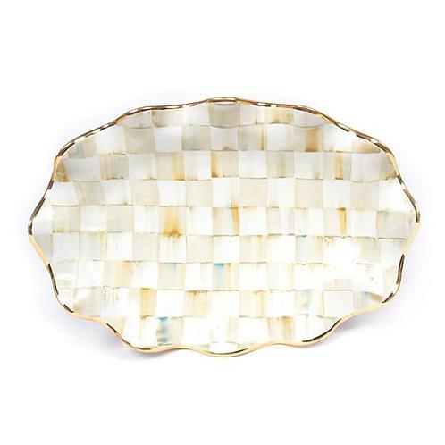 Parchment Check Serving Platter