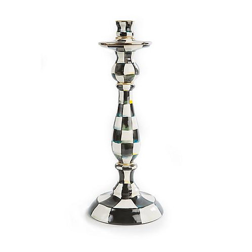 Mackenzie Childs Courtly Check Large Candle Stick