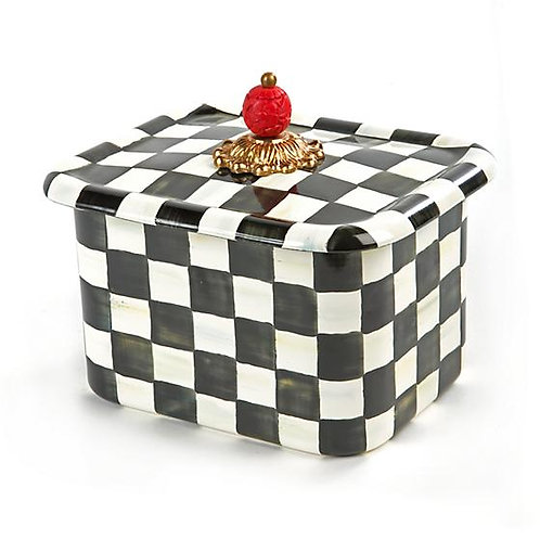 MacKenzie-Childs Courtly Check Enamel Recipe Box