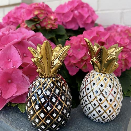 MacKenzie-Childs Pineapple Salt & Pepper Shakers