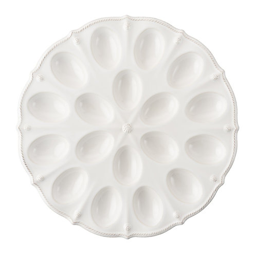 Juliska Berry & Thread Whitewash Deviled Egg Platter