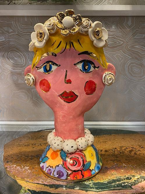 Large Mary Rose Face Vase