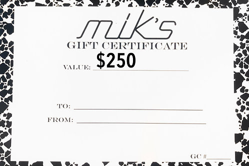Mik's Gift Card - Clothes Only