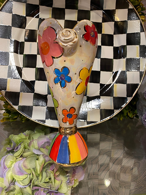 Mary Rose Young Heart Vase