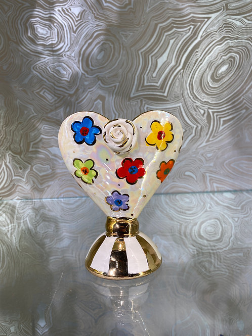 Mary Rose Young Baby Heart Vase