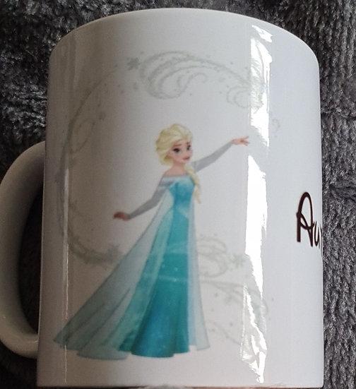 elsa personalised mug