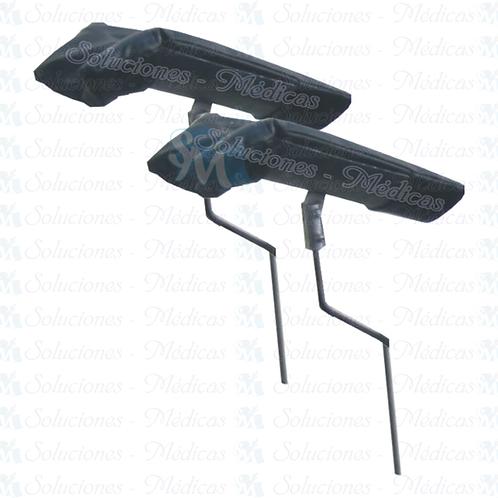 Par de pierneras de metal forradas modelo MMPFO01