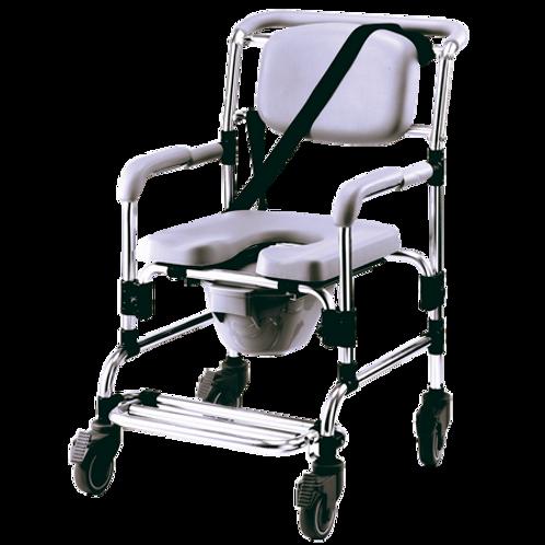 Silla cómodo ducha de lujo de aluminio con ruedas