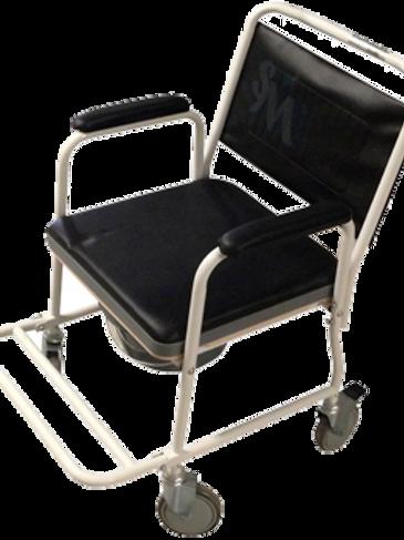 Silla cómodo móvil de acero cromado con descansa