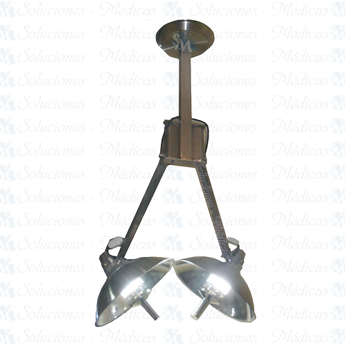 Lámpara de techo luz fría de 2 satélite AILAMTE02