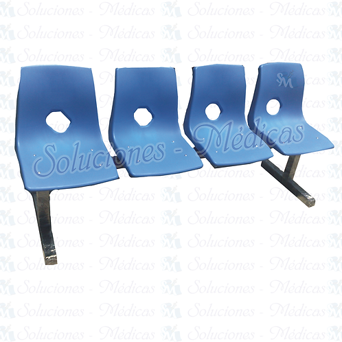 Sillas (banca de 4 plazas) escolar modelo MOBESC04