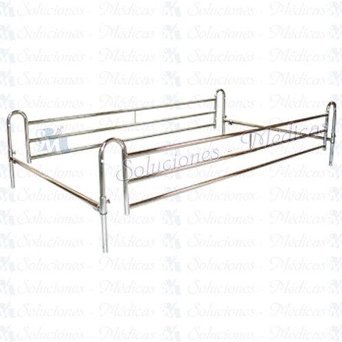 Barandal telescópico para cama de hospital MMBTC01