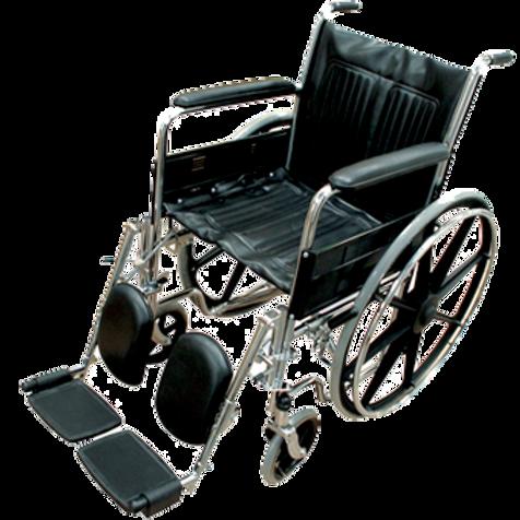 Silla de ruedas cromada modeloHC-ECG16-EF