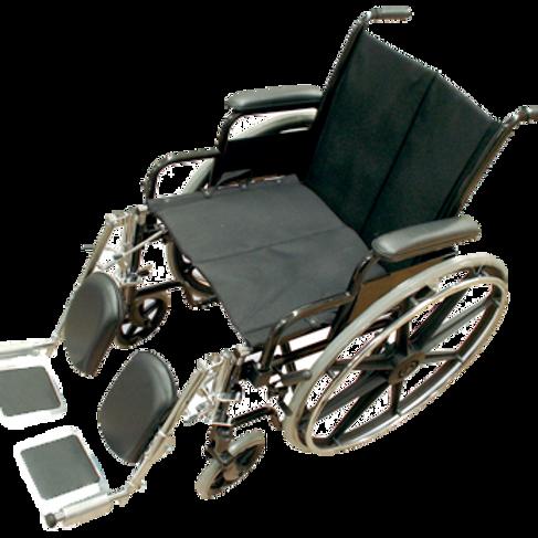 Silla de ruedas esmaltada con respaldo abatible