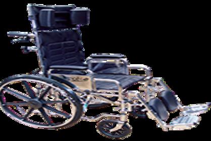 Silla de ruedas reclinable 180� cromada